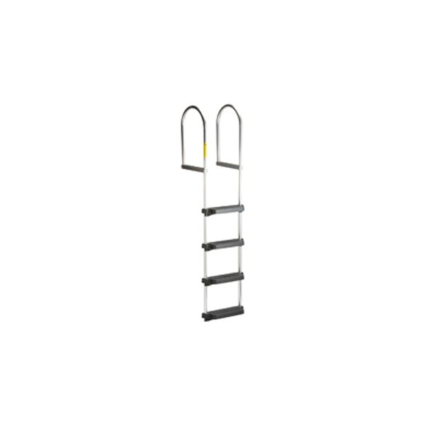 Garelick® 15440 - Aluminum 4-Step Fixed Dock Ladder with Handrails