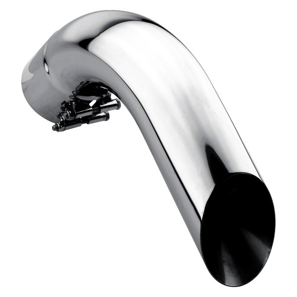 gibson 4 inlet polished stainless steel angle cut end exhaust tips w o flapper