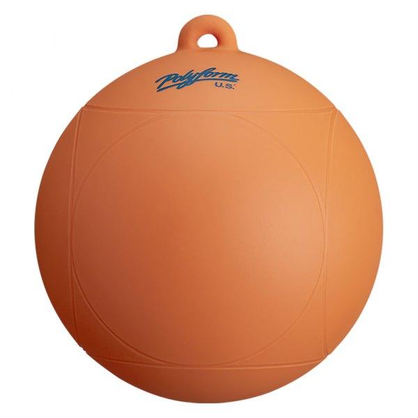 """Polyform U.S.® - WS Series 8"""" D x 8.5"""" L Orange Round One Eye Water Ski Slalom Buoy"""